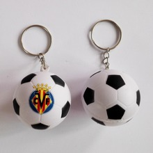 Villarreal CF  football team souvenir  football keychain,Villarreal CF soccer  ball keyring ,4pcs/lot