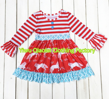 China Wholesale Baby Girls Clothing Latest Kids Dress Designs Horse Fashion Girl Dress Manufacturer Children Dress