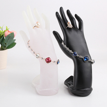Graceful Display Hand Finger Jewelry Chain Ring Bracelet Holder Elegant Black Jewelry Display Stand Holder(China)
