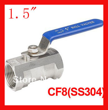 Free shipping New arrival 1.5 CF8 1pc ball valve, one piece female thread ball valve for water,oil and gas<br><br>Aliexpress