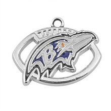Diy Jewelry Finding Accessories Fashion American Football Team Logo Baltimore Ravens Charms