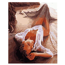40x50cm No Frame Sexy Mermaid Pictures Painting By Numbers DIY Digital Oil Painting On Canvas Unique Gifts Home Decor szyh028