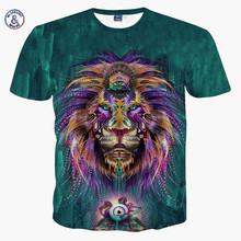 Mr.1991INC&Miss.GO New Fashion Men/women 3d t-shirt funny print colorful hair Lion King summer cool t shirt street wear tops tee