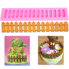 M112 1pc 3D Picket Fence Silicone Fondant Cake Mold Cake Decorating Tools for Candy Chocolate Cookie Baking Tool(China)