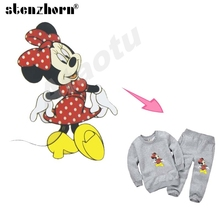 Mickey series A Level iron-on transfers cartoon minnie mouse patches Ironing Stickers Baby heat transfers for clothes(China)