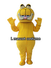 High Quality Garfield mascot fursuit cat Mascot Costume Carnival fancy Dress Adult Size Free Shipping(China)