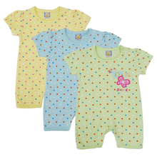 2017 New Style 3pcs/lot Baby One Piece Cotton Short Sleeve Girls Footies Summer Boys Embroidered O Neck Newborn Clothing