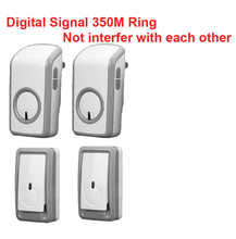 bell kits emitters+2 receiver wireless doorbell Waterproof 380 Meter door chime 48 melodies door ring digital signal door bell