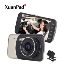 Xuanpad 4 inch Dual Lens Car DVR Cam Dashcam 1080P Full HD Video Registrator Recorder With Backup Rearview Camera G-Sensor WDR
