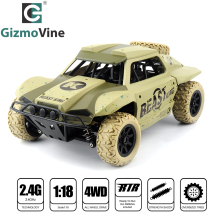 GizmoVine RC Car 1:18 Short Truck 4WD Drift Remote Control Car Radio Controlled Machine High speed Micro Racing Cars Model Toys(China)