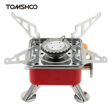 TOMSHOO Camping Stove Foldable Gas Stove 2800W Gas Stove Stainless Steel Outdoor Stove Portable Picnic Gas Furnace with Bag