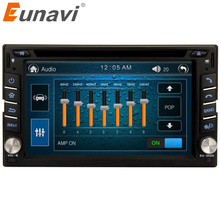 Eunavi Universal Double 2 Din Car Dvd Player 6.2 Inch Radio Stereo Head Unit Gps Navigation With Cd Mp3 Usb Bluetooth Swc(China)
