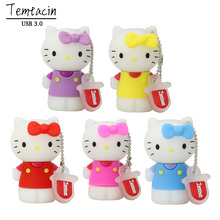 3.0 Hello Kitty PenDrive 512 GB USB Flash Drive 64GB Pen Drive 32GB PenDrive 4GB 16GB Cartoon Flash Card Hot Sale Memory Stick(China)