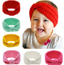 2017 Children Wool Knitted Headbands autumn Winter Kids Newborn Hai Turban Headband Headwear Girls Hair Headwrap Accessories