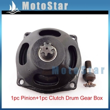 Mini Dirt ATV Quad Engine Clutch Drum Gear Box Pinion 25H 7 Tooth For 2 Stroke 47cc 49cc Engine Chinese Minimoto Pocket Bike(China)