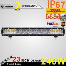 Factory Price 23inch LED Light Bar 240W 4D LED Work Light  4x4 Truck ATV RZR Trailer Roof Offroad Driving Light 12V 24V led bulb