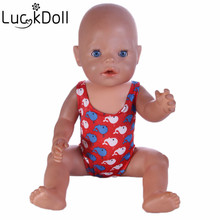 luck doll Free Shipping Doll accessories doll Swimsuit fit for Americal Girls 43cm doll Baby Born zapf,girls playhouse toys b487