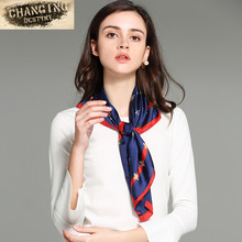 17 Color 70 * 70 CM Women Scarves Silk Small Squares  Silk Scarves Career Women In The Spring and Autumn Small Scarf