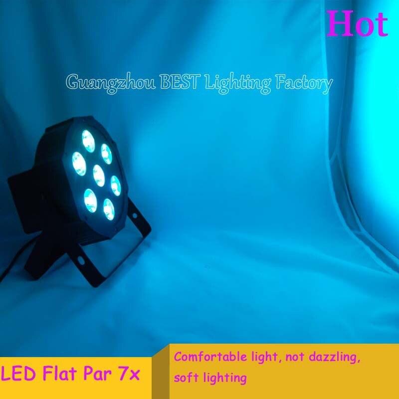 2pcs/lot dj light led flat slimpar DMX 4/8 Channels Led stage lights Par wash 7x12W RGBW 4IN1<br>