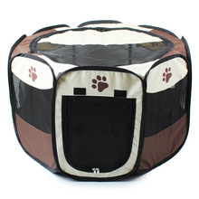 Pet Bed Pet Play Pen Puppy Rabbit Cage, Large,octagonal collapsible for Big Pet(China)
