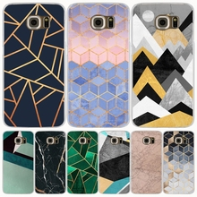 Marble Line Luxury cell phone case cover for Samsung Galaxy S7 edge PLUS S8 S6 S5 S4 S3 MINI