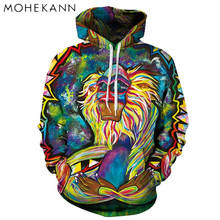 2017 Mohekann Pattern New Fashion Men Hoodie 3D Printing Couples Streetwear Women's Sweatshirts Coats Colorful Tracksuits Pocket