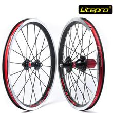 Litepro KFUN Ultra Light 16 inch Folding Bike Wheels 74 130mm V Brake 20 28 Holes Bicycle Wheelset(China)
