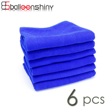 BalleenShiny 6Pcs Car Cleaning Cloth Microfiber Towel Cleaner Household Washing Glass Window Brush Kitchen Dust Cleaning Tools(China)