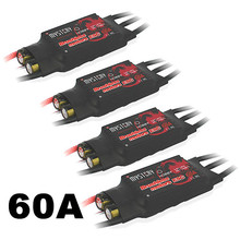 4PCS/Lot Mystery Fire Dragon 60A Brushless ESC RC Speed Controller For RC Helicopter Airplane(China)