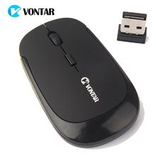 VONTAR 2.4G Wireless Mouse Ultra-Thin 1000DPI Optical Mause Mice with USB Dongle For Windows 2000 ME XP Vista 7 Laptop PC Gamer(China)
