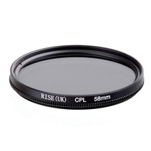 RISE(UK) 58MM CPL PL-CIR Polarizing Filter for DLSR 58mm lens free shipping(China)