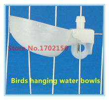 10 from the sale Bird drinking cup White Quail Pigeon Parrot drinking fountain Hanging water bowls Free shipping