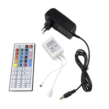 LED strip 44 Key IR Remote RGB Controller Wireless +DC 12V 3A Power Supply adapter  For RGB Flexible light tape 5050 3528 5630