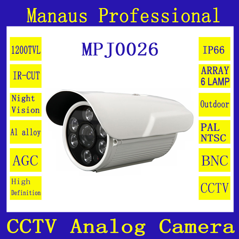 Hot Sale CCTV Camera 1200TVL IR Cut Filter 24 Hours Day/Night Vision Outdoor Waterproof Bullet Surveillance Camera 5 Lens J26a<br><br>Aliexpress