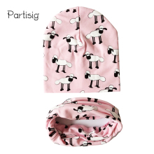 2017 Baby Hats Animal Printing Cotton Baby Caps Children Hat Scarf 2pcs Set Caps For Baby Boy Brand Kids Winter Hat