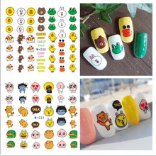 3pcs/lot Korea Cartoon Pattern DIY Children Favor Nail Art Water Transfer Nail Stickers Decorations Tips Decals Nail Tools Tips