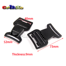 "2pcs Pack 1-1/2""(40mm) Webbing Center Release Buckle Plastic for Hiking Camping Bags #FLC405-40B"