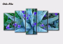 Ode-Rin painting on the wall abstract decorative pictures oil painting Aloe flower bloom painting 5 piece canvas art no frame