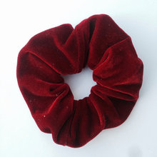 ON SALE 1PCS Women Velvet Hair Scrunchies Elastic Spring Hair Bands Ties Ponytail Holder Hair Accessories Women Girls Head Bands(China)