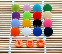 1000 Sets T5 12MM Plastic Resin Snaps fastener For Crafts, Baby, Clothes, Bibs, Diapers and Scarves mixed or pick color D15(China)
