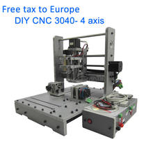 No tax, MINI Desktop Engraving Machine 3040 4axis DIY CNC Router Drilling and Milling Machine