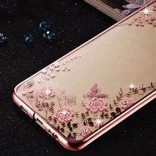 Pretty Rhinestone Case for LG K10 Cover LG K8, Coque TPU Silicone Back Cover for LG K10 K8 Phone Bag Case