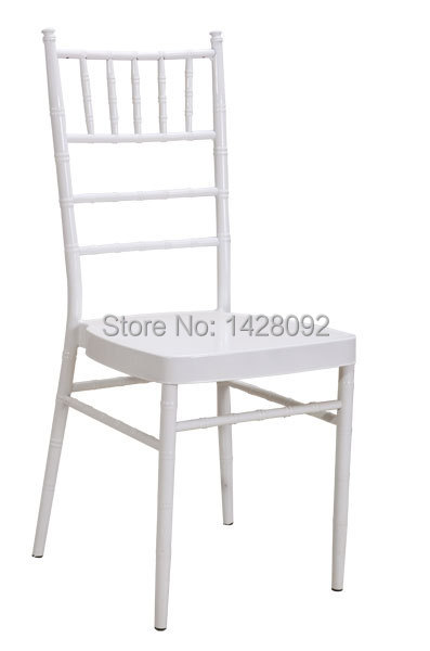 wholesale quality strong white metal chiavari chair with removable cushion for wedding events party<br>