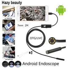 Hazy beauty 10pcs/lot 480P 7mm Lens 2M Flexible Snake Cable Usb Endoscope Camera For Smartphone Android & PC IP67 Waterproof(China)
