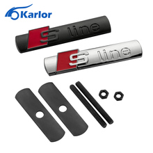 3D S Line Sline Car Front Grille Emblem Badge Stickers Accessories Styling Audi A1 A3 A4 B6 B8 B5 B7 A5 A6 C5 C6 A7 Q5 Q7 TT - Karlor Speciality Store store