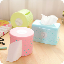 2017 New Fashion High Quality  Round Waterproof Plastic Toilet Toilet Paper Holder Large Cartons Towel Rack Broader Tissue Box