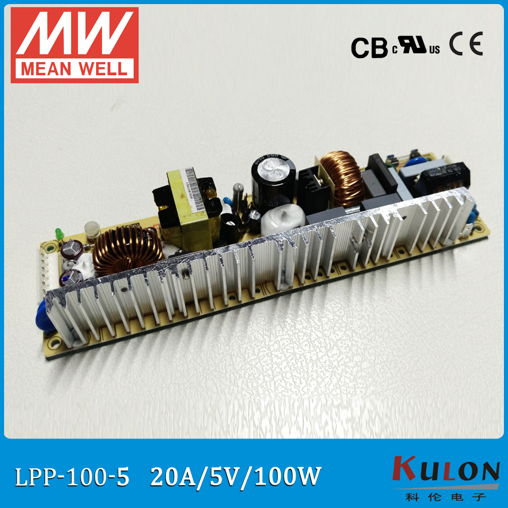 Original MEAN WELL LPP-100-5 single output 20A 100W 5V with active PFC open frame LPP-100 Meanwell Power Supply<br>