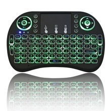 2.4GHz RF Portable Mini Wireless Keyboard with Touchpad Mouse for Windows/Linux/Android/Google/Smart TV/Mac OS 3 Color Light