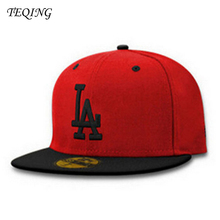 New Brand Baseball Caps Flat Men and Women Couples Hip Hop Hat Duck Tongue Hat LA Letter  Leisure Snapback Cap Y-24