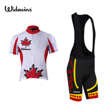 canada team Cycling Jersey Cycling clothing Breathable Mountain Bike Clothes /Summer White Quick Dry Bicycle Sportswear 5016
